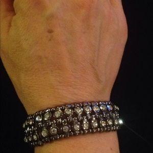 Cookie Lee Crystal Stretch Bracelet
